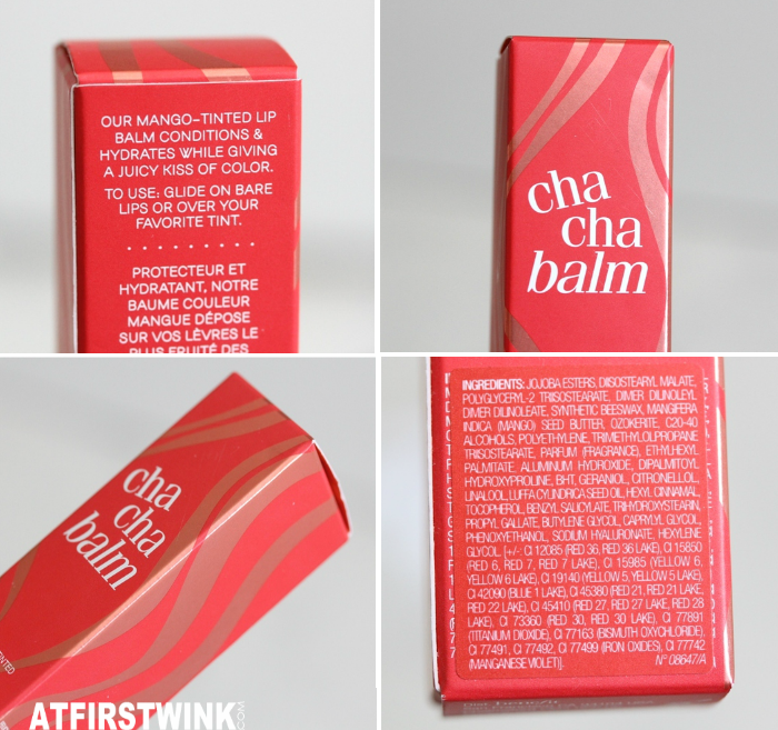 Benefit hydrating tinted lip balm - chachabalm box