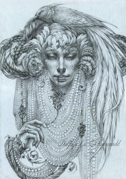 11-The-Conspiracy-of-Silence-Olga-Anwaraidd-Drawings-Fantasy-Portraits-Imaginary-Characters-www-designstack-co