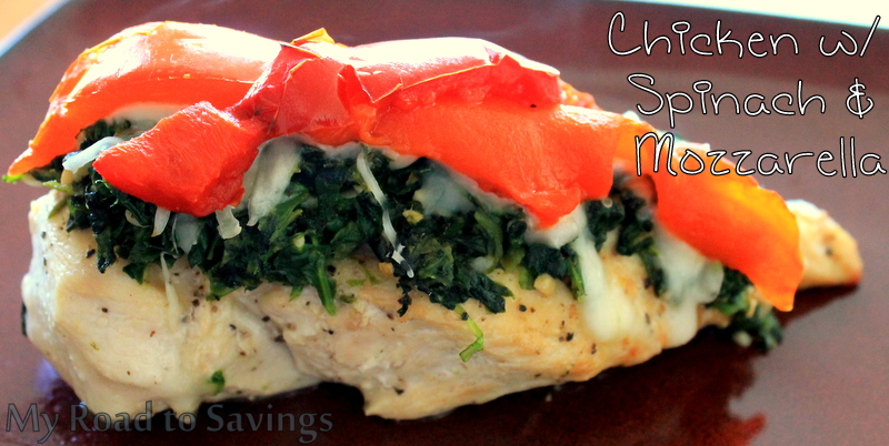 ... the Ropes...One Recipe at a Time: Chicken with Spinach and Mozzarella