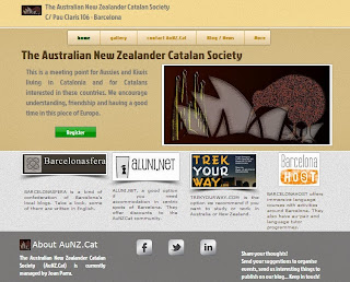 The Australian New Zealander Catalan Society's website