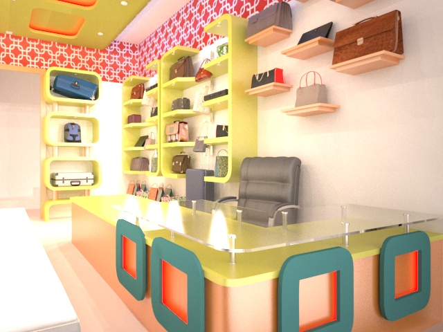 My new bag shop work....elevation with interior.