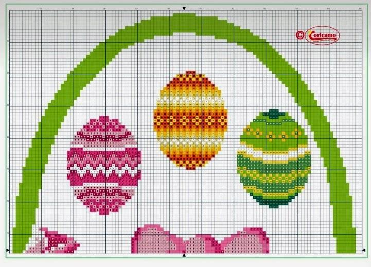 Вышивка крестом пасхальное яйцо схема 80
