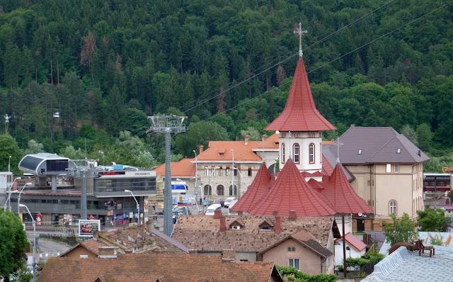 Vistas del teleférico de Piatra Neamţ desde la habitación