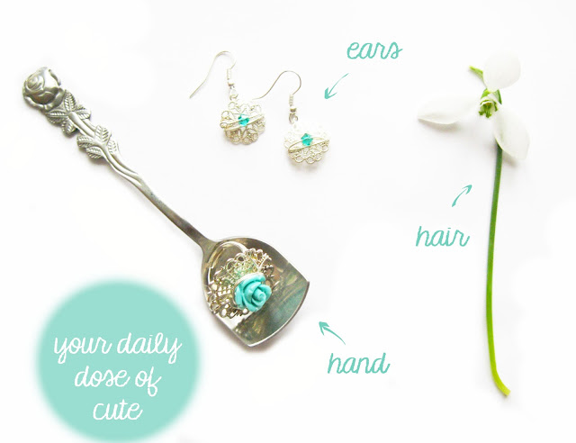 jewelry ring earrings rose blue craft diy