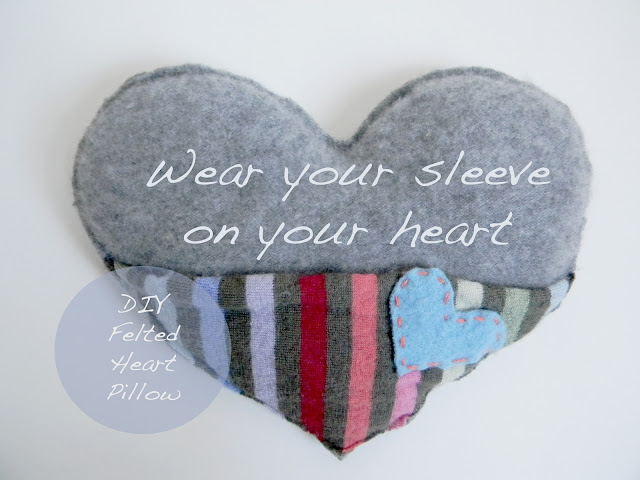 Felted Heart Pillow
