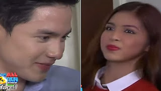 Alden looking at Yaya DUB, but Yaya DUB got conscious an can't look back.