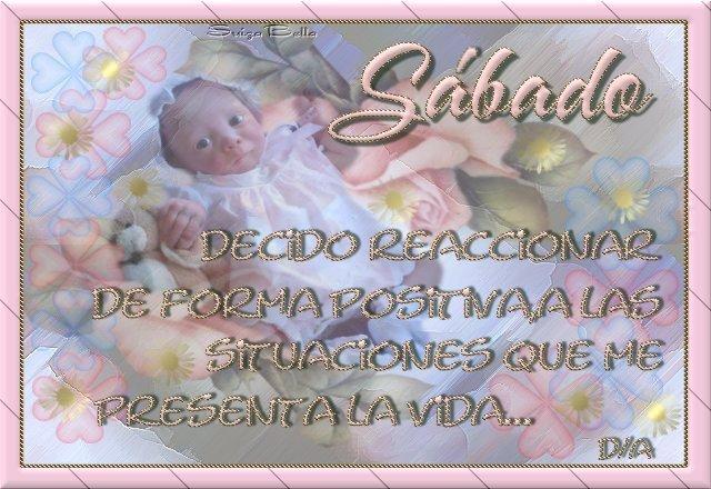 tarjetas de feliz sabado en bebe