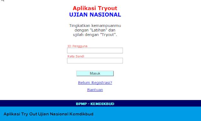 Aplikasi Latihan Ujian Try Out Ujian Nasional Kemdibud