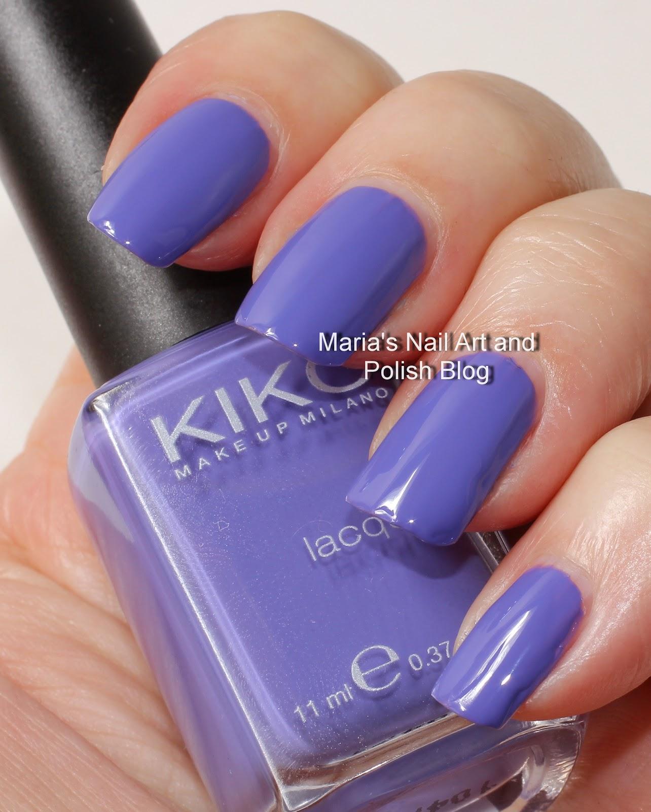 Marias Nail Art and Polish Blog: Violet Kiko swatches: 332 Dark ...