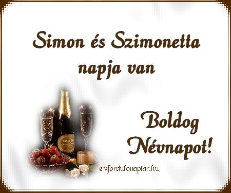 Október 28 - Simon, Szimonetta névnap