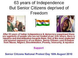 Senior Citizens National Protest Day' 16th August 2010