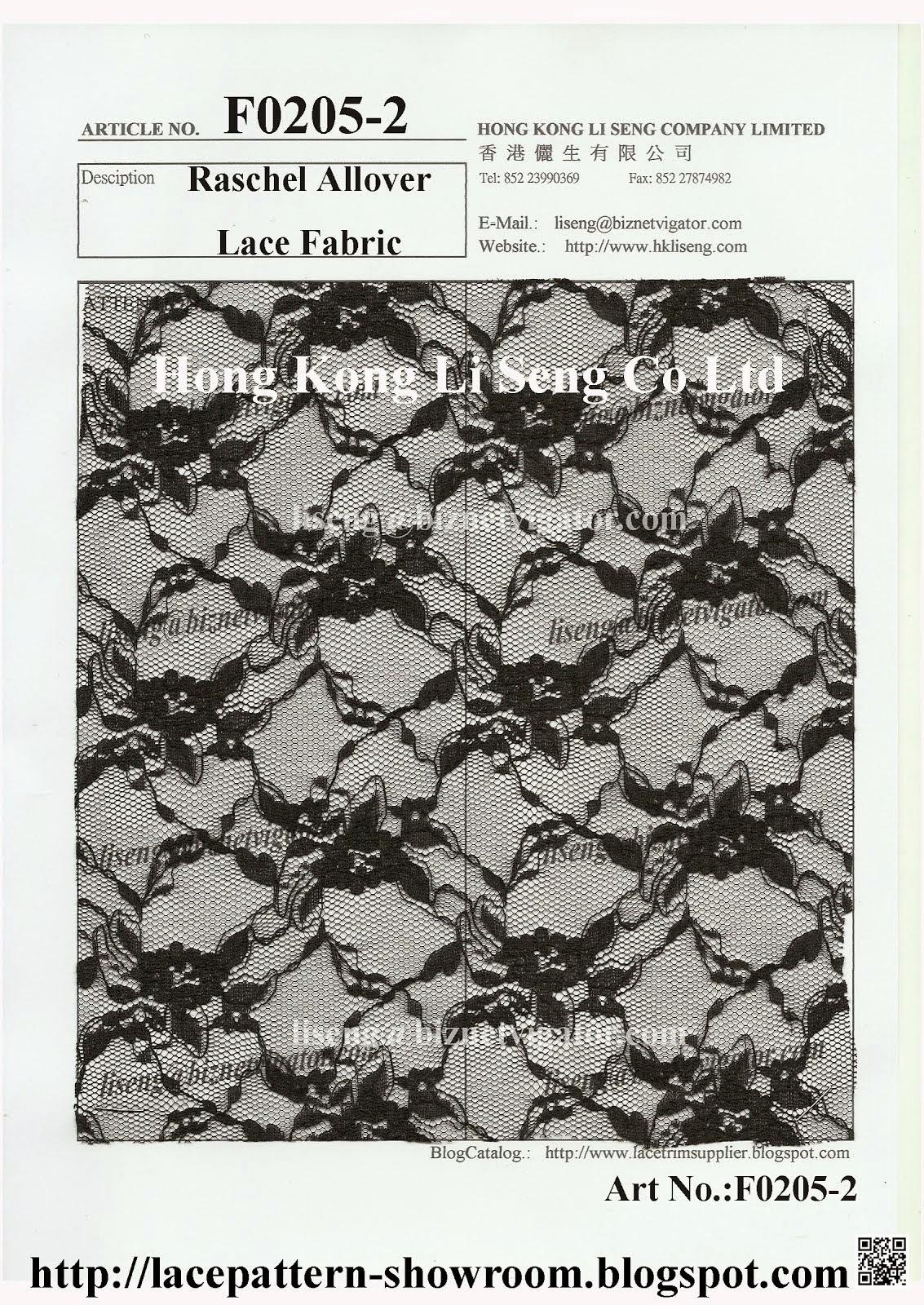 New Raschal Allover Lace Fabric Manufacturer - Hong Kong Li Seng Co Ltd