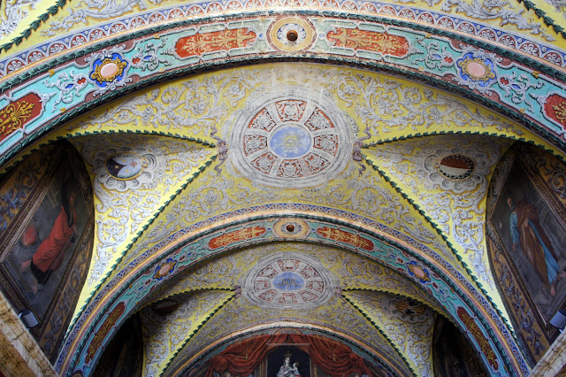 carmelite priory's painted ceiling, mdina malta