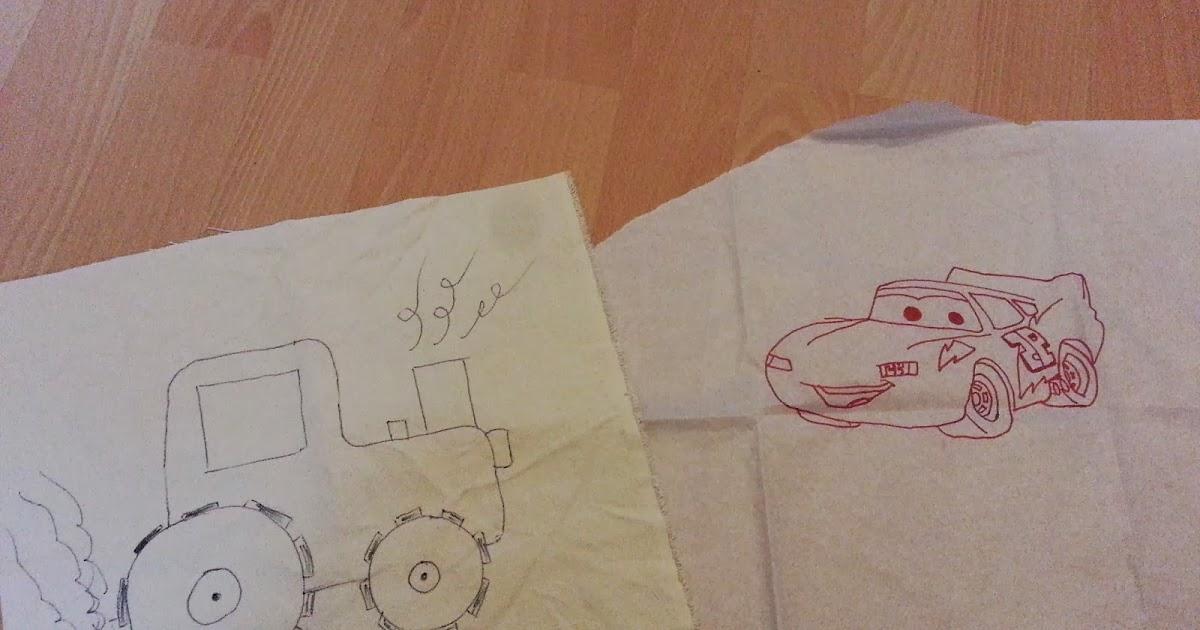 Typisch Dana: Anleitung malen mit der Nähmaschine