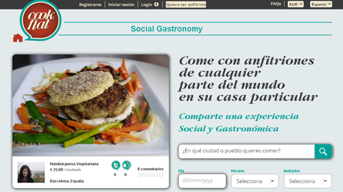 invita a gente de todo el mundo a comer en Cockflat - www.dominioblogger.com