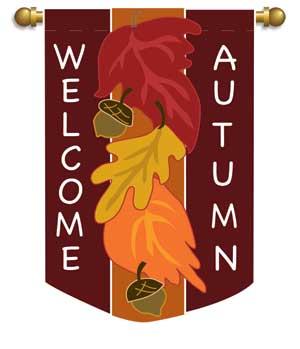 autumn leaves 2 applique garden flag