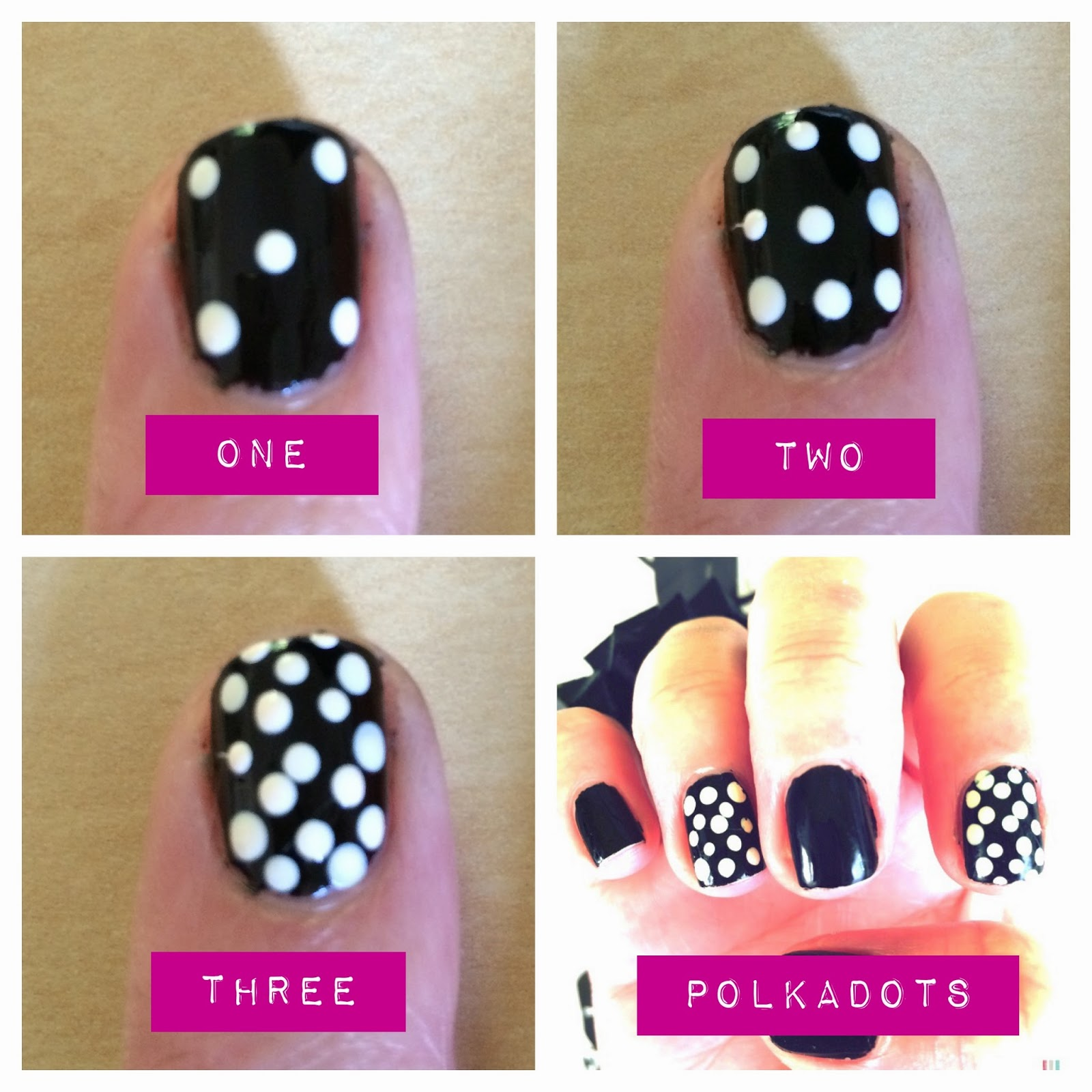 Easy polka dot nails. The Graffitied Gardenia.