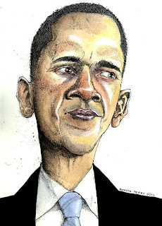 barack Hussein Obama illustration by ammon perry