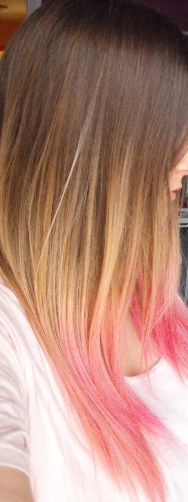 Degrade couleur pointe cheveux