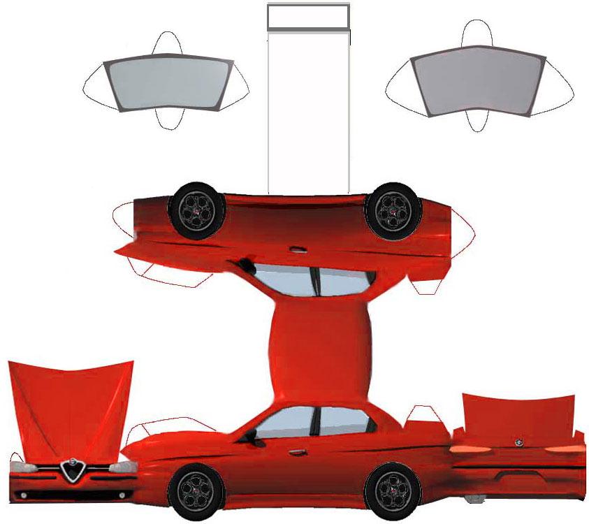 Papel De Carros Para Montar