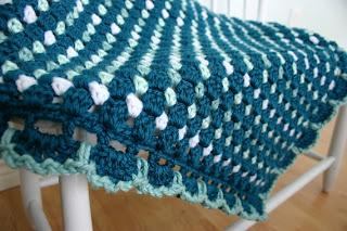 Dit Dah Blanket Crochet Pattern by Susan Carlson of Felted Button