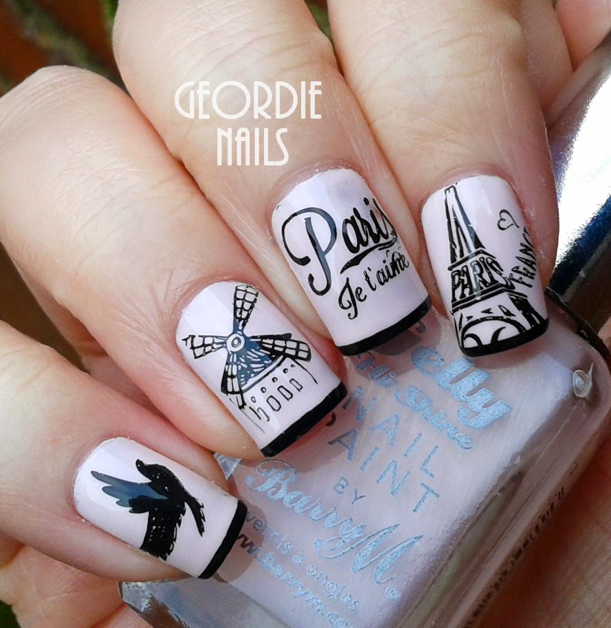Фото дизайна ногтей с парижем