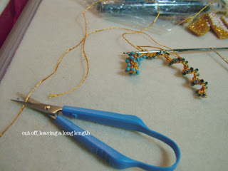 how to make beaded crochet earrings - ClearlyHelena