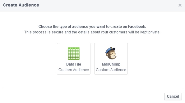 Facebook advertising: Custom Audiences