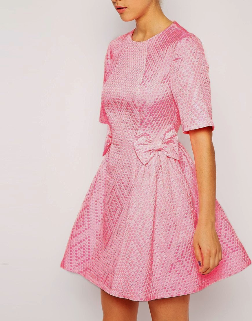 ASOS Bubble texture bow dress date night dress