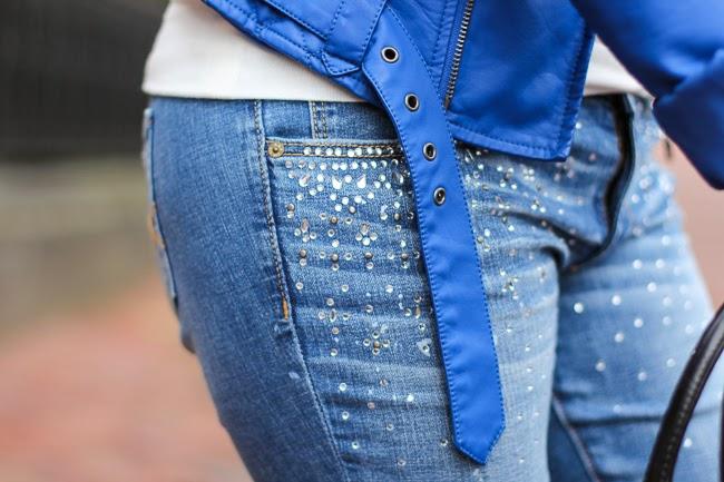 Abercrombie Sparkle Blue Jeans