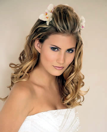 Half-Up Wedding Hairstyles for Long Hair