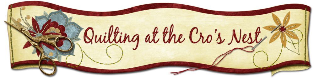 OLD BLOG- Quilting at the Cro's Nest
