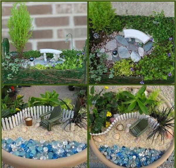 Semplicemente chic come fare un giardino in miniatura - Giardino zen in miniatura ...