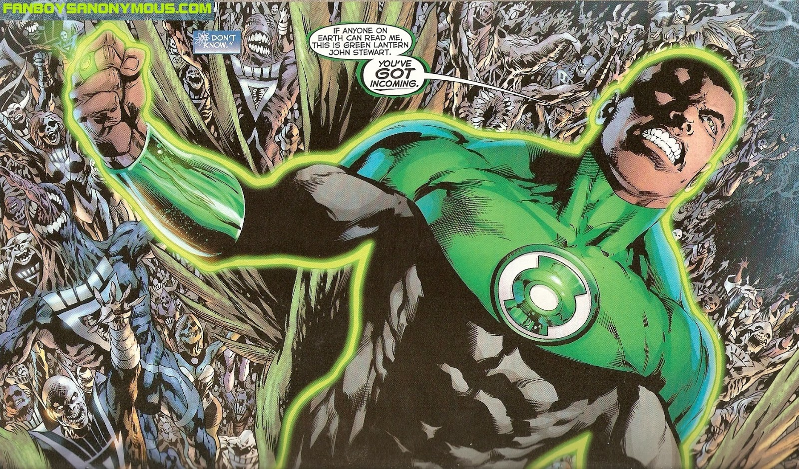 DC Green Lantern John Stewart In Blackest Night surviving the Black Lantern Corps