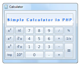 calculator in PHP
