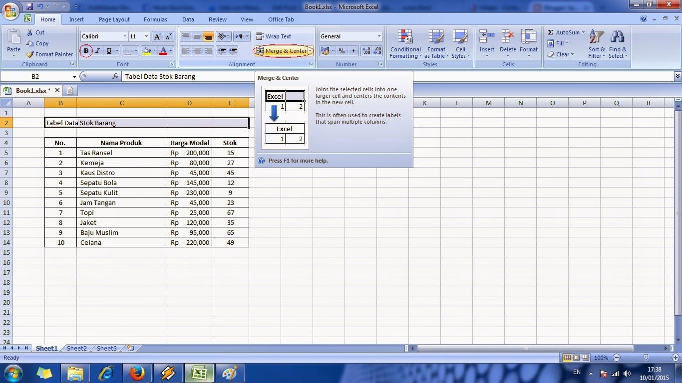 tutorial, cara, cepat, belajar, microsoft, excel