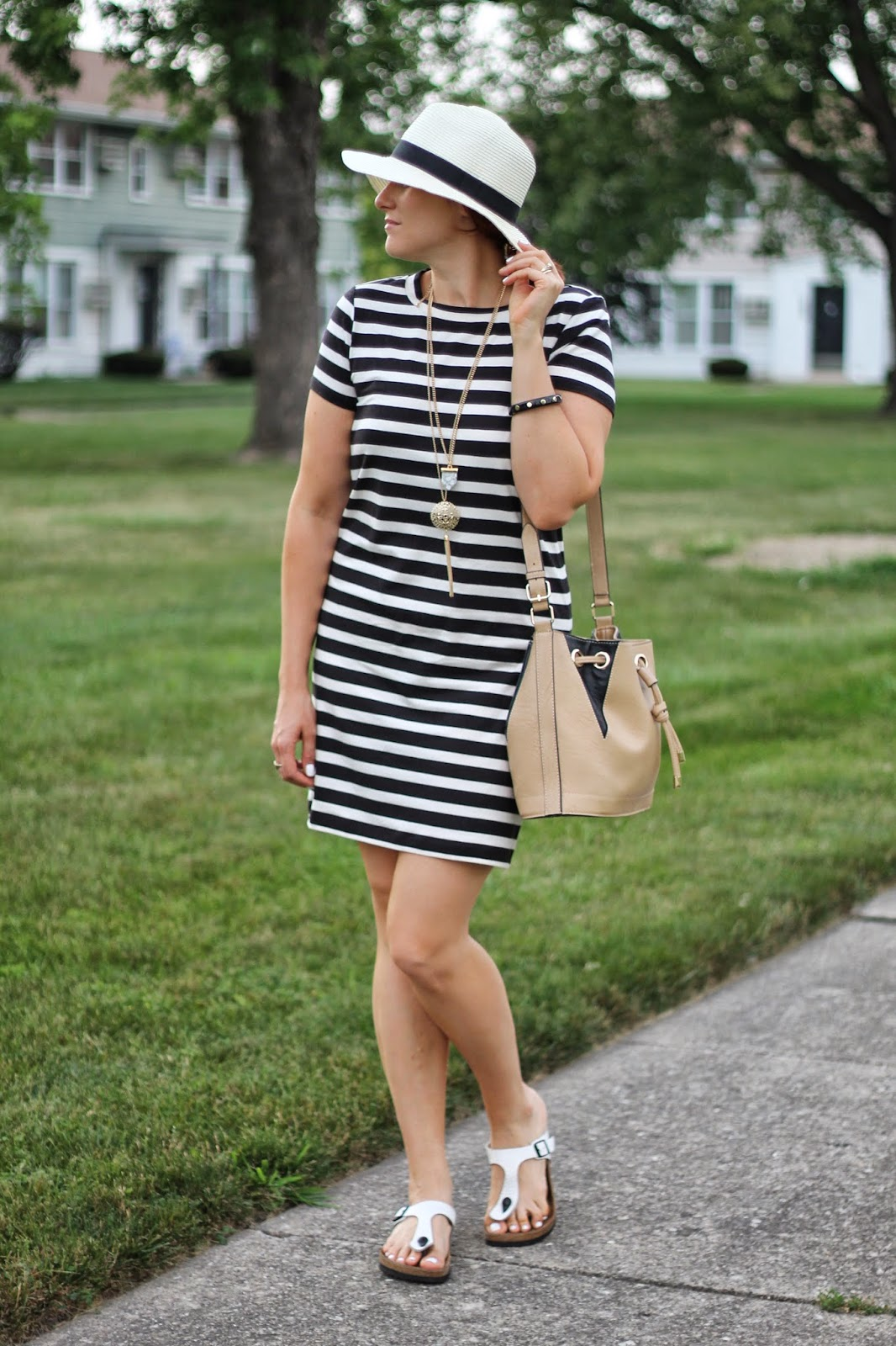 striped, dress