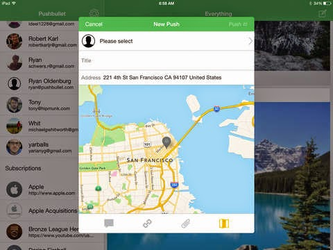 Pushbullet for iPad