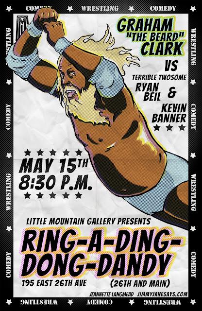 Graham Clark wrestling poster