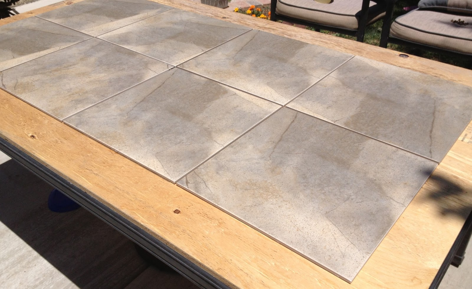 Beyond The Craft Room DIY Tiled Patio Table