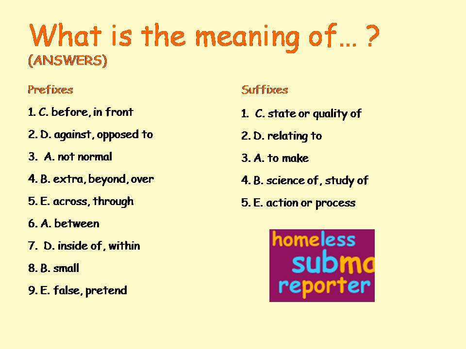 english prefix and suffix