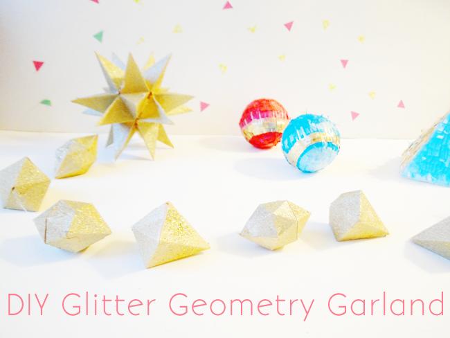 A Lovely LarkDIY Glitter Geometry Garland