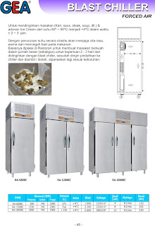 Counter, salad case, Water Chiller, Blast Chiller, Blast Freezer