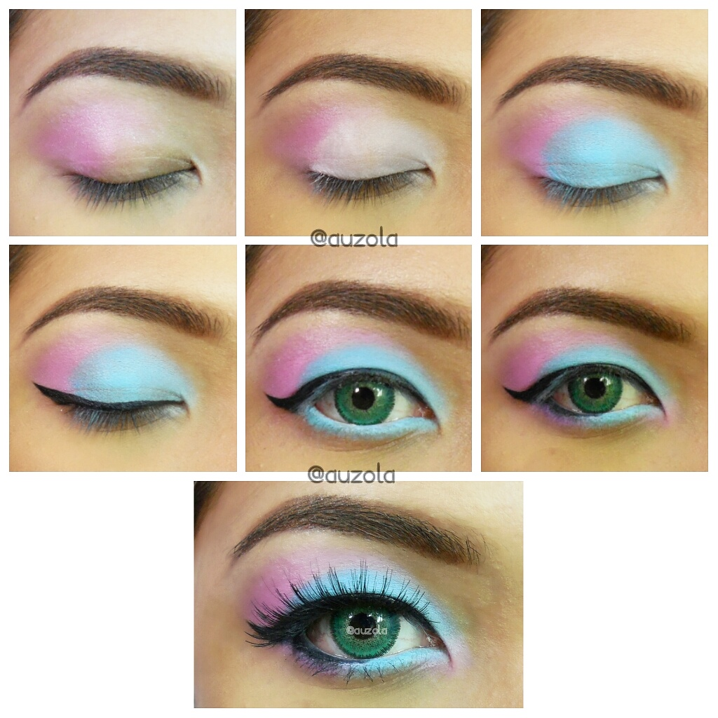 Steps 1 Apply Pink Eyeshadow On Your Crease And Blend Outward 2 White Eyeliner All Over Eyelid Creating A Half Circle