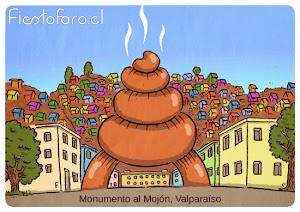 Postales de Valpo - Monumento al mojón