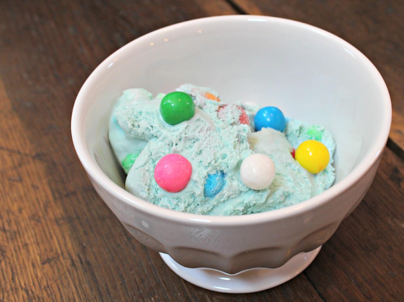 homemade bubble gum ice cream