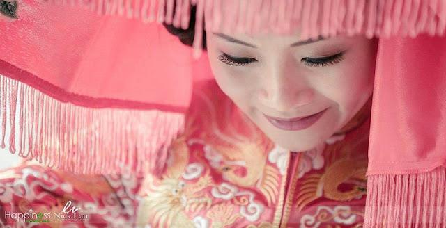 closeup covering head cloth