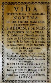 Vida y Novena de los Santos Mártires Abdón y Senén, Patronos de Calasparra