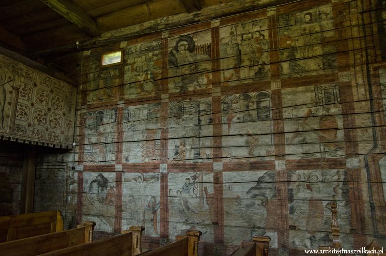wooden Polish architecture, wooden church in malopolska region