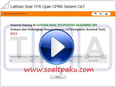 Latihan Soal TPA CPNS 2013 Menggunakan Sistem CAT | Contoh Soal Tes